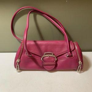 Cole Haan Pink leather triangular Shoulder Bag